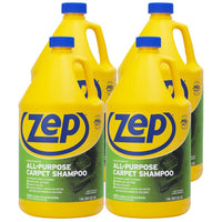 Zep All-Purpose Carpet Shampoo Concentrate 128 oz. (Case of 4) - Works With All Popular Machines