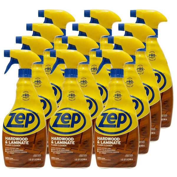 Zep Hardwood & Laminate Floor Cleaner 32 oz. (Case of 12) Ready-to-Use spray formula