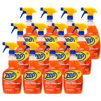Zep Heavy-Duty Citrus Cleaner 32 oz. (Case of 12) - Restaurant Grade Degreaser Dissolves Baked on Grease and Oils!