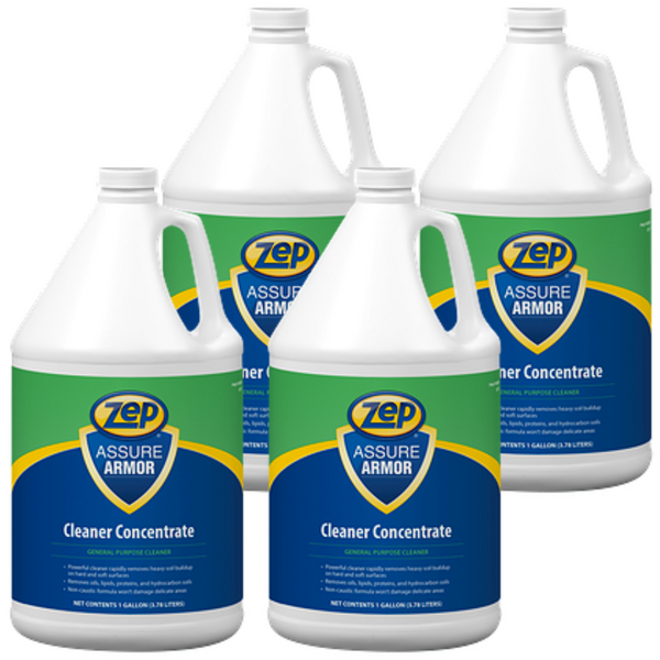 Zep Assure Armor Cleaner Concentrate 128 oz. Case of 4 - Removes Built-Up Soils and Grime Fast!