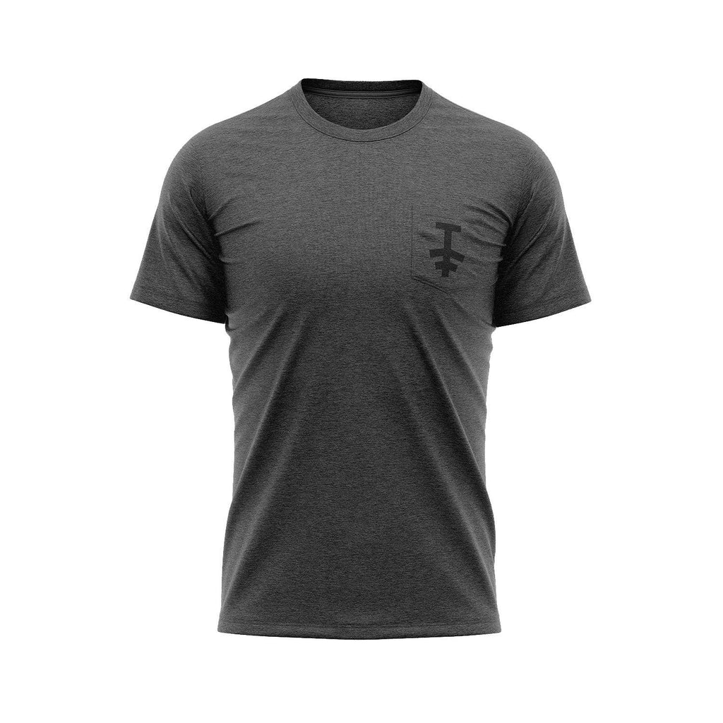 protekt logo pocket t shirt grey
