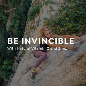 be invincible with natural vitamin c and zinc