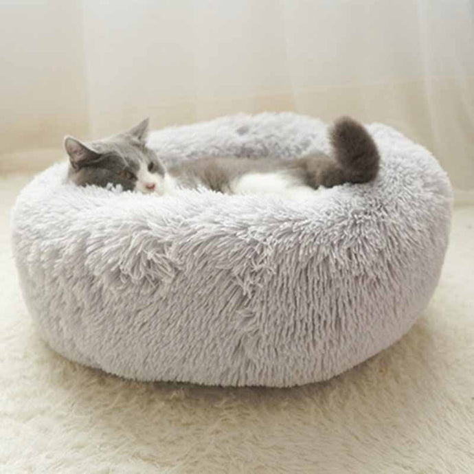 Luxury Round Pet Beds For Warm Deep Sleep