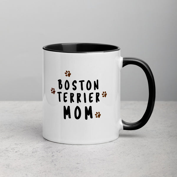 Boston Terrier Mom Muddy Paws Mug