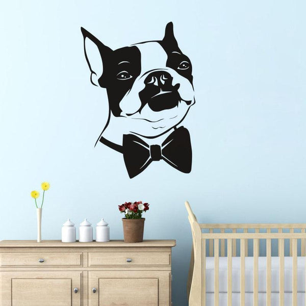 Boston Terrier Removable Wall Sticker in Bedroom