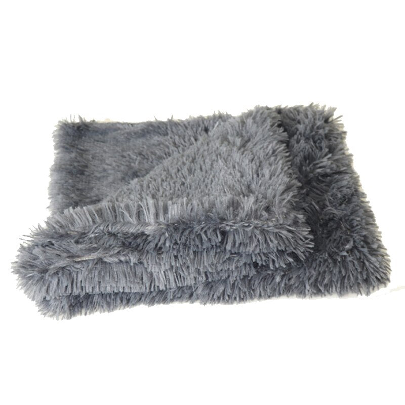 Fluffy Dog Blanket - Dark Gray