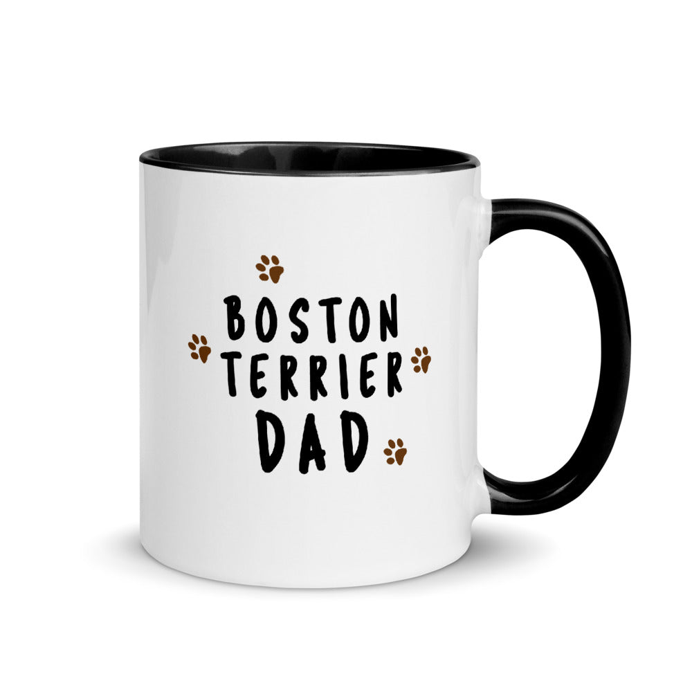 Boston Terrier Dad Muddy Paws Mug - Boston Terrier World