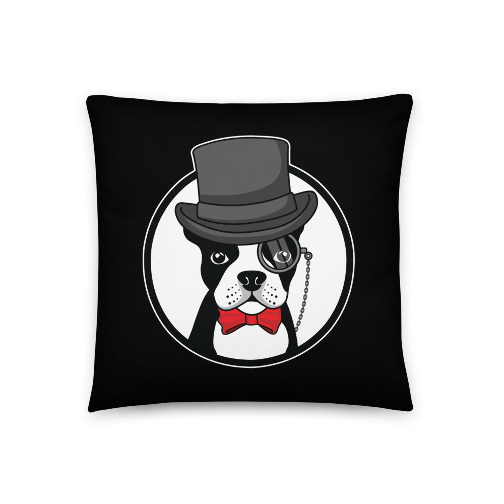 The Gentleman Boston Terrier Pillow