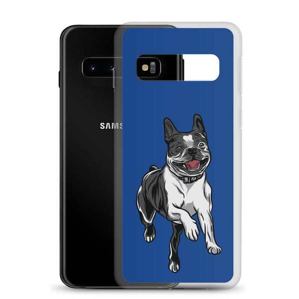 Boston Terrier Samsung Phone Case - Blue - Boston Terrier World