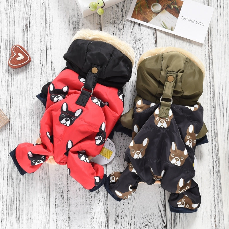 Warm Snowsuit For Dogs - Boston Terrier World