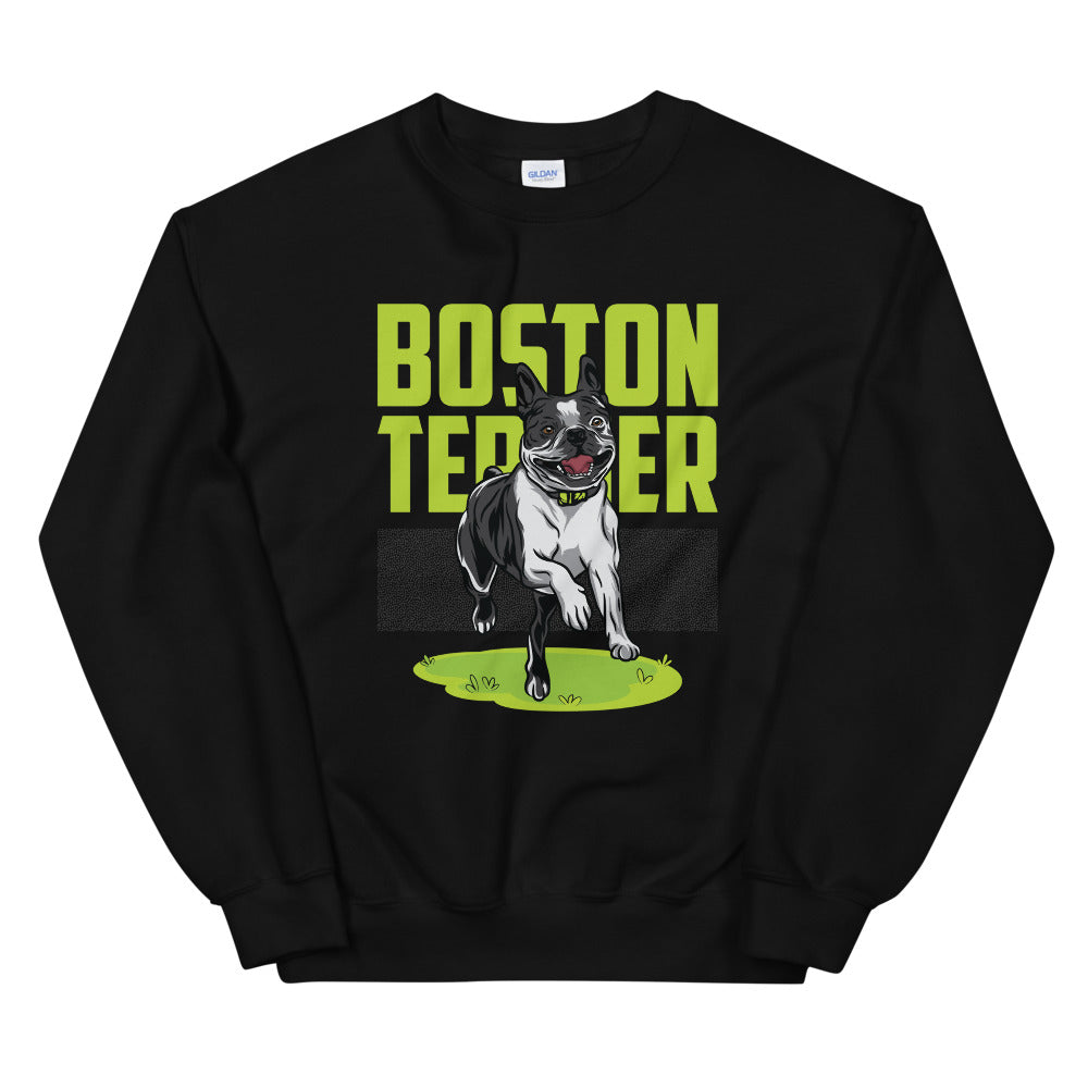 Happy Boston Terrier Sweatshirt