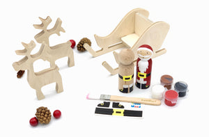 Santa's Sleigh Art Kit