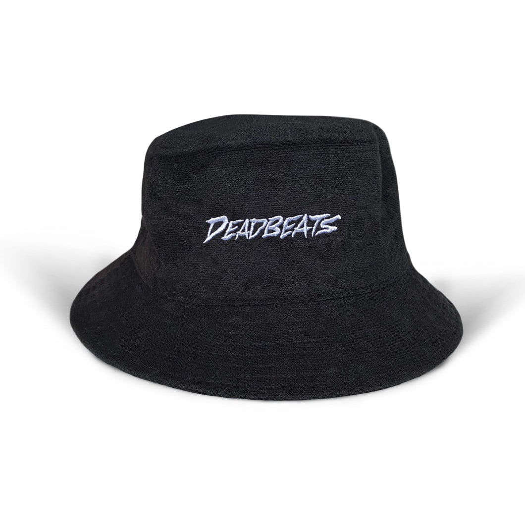 Deadbeats - French Terry Bucket Hat - Black