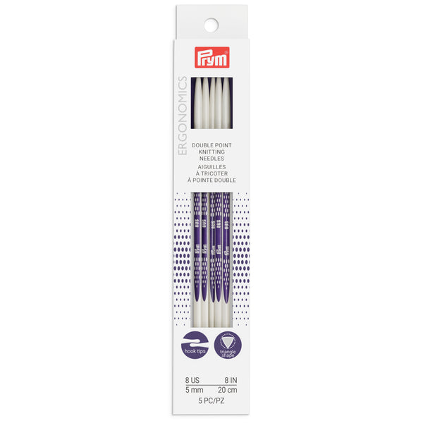"US 8 (5mm)- 8"" Double Point Knitting Needles"