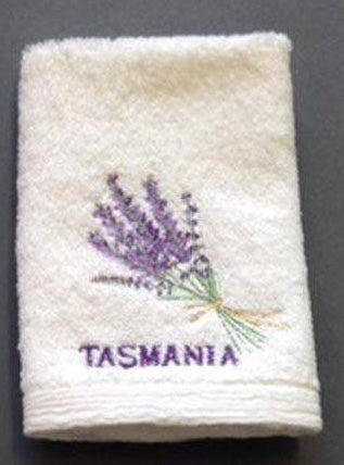 Pilbeam - Tasmania Lavender Bouquet embroidered face washer