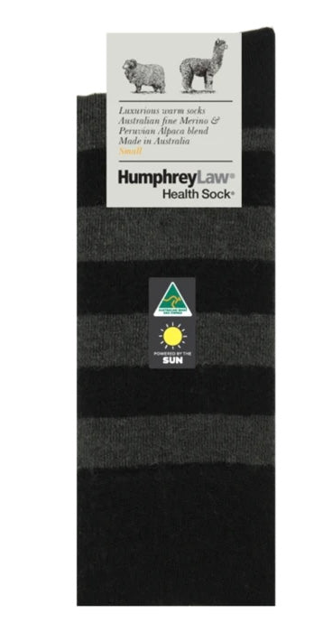 Humphrey Law - Baby Alpaca Stripe Health Sock - 5 Colours