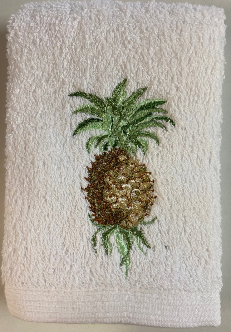 Pilbeam - Pineapple Embroidered Face Washer