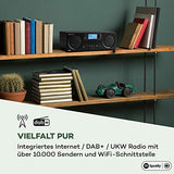 auna Worldwide CD - Internetradio mit Bluetooth, DAB/DAB+ Radio, MP3-fähiger USB-Port, mit CD-Player, Spotify Connect, AUX, App Control, Timer, schwarz