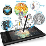 XP-PEN Artist 12 Grafikmonitor Drawing Pen Tablet Pen Display 1920 X 1080 HD IPS mit Touch Bar Zeichnen Stift P06 mit dem Radiergummi zum Fernunterricht Home-Office (Artist 12)