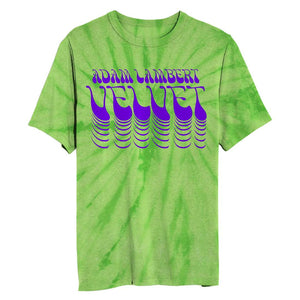 Green Tie Dye  Flock Print Tee + Download