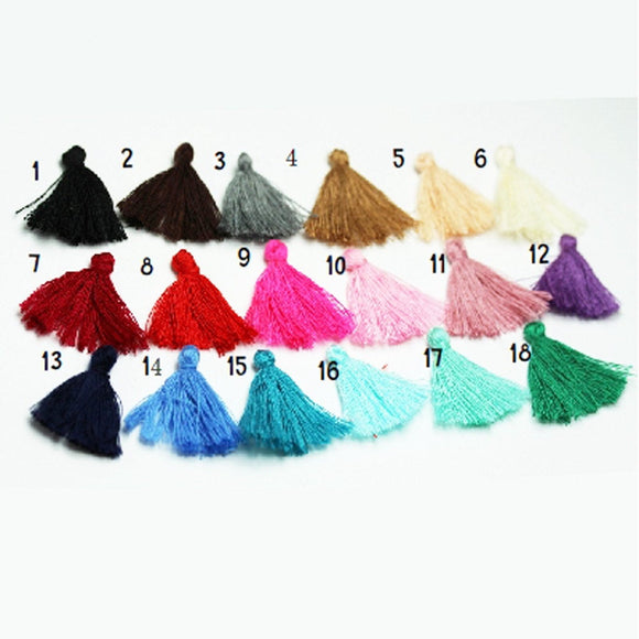 20 pcs 30mm Small Lovely Cotton Tassel, Colorful Cotton Tassels Charms,for fashion accessories and home decor - FDB0344