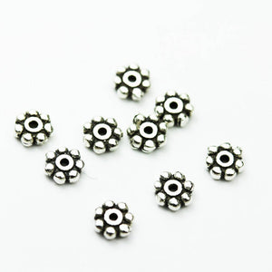 20pcs 4mm Jewellery Findings Spacers,925 antique sterling silver, 1.5mm thick, hole 0.8mm. - FDSSS0405