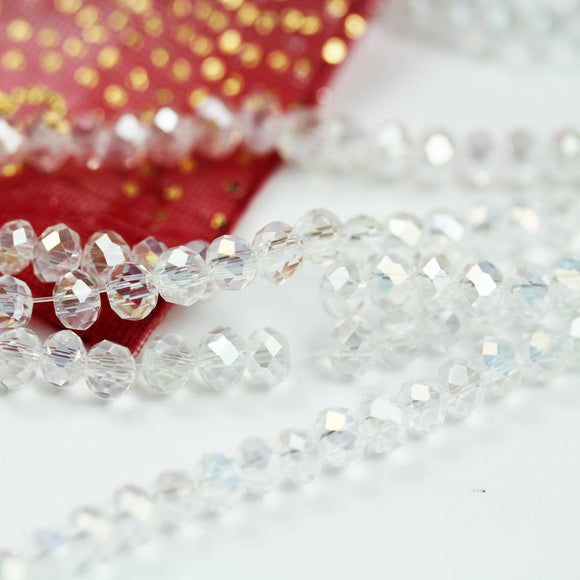 3.5*4.5mm Clear AB One full strand  Jewelry Beads Strands,Crystal Glass,Faceted rondelle,100 beads,Hole1mm, 18