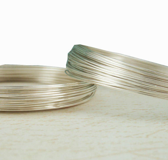 1 foot/10 feet 21 gauge/0.7mm , 925 Sterling Silver Wire,  ROUND, Dead Soft -WC0141