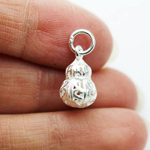 2pcs 925 Sterling Silver Jewellery findings Charm Beads , 14*8.5mm Gourd charms- FDSSB0479