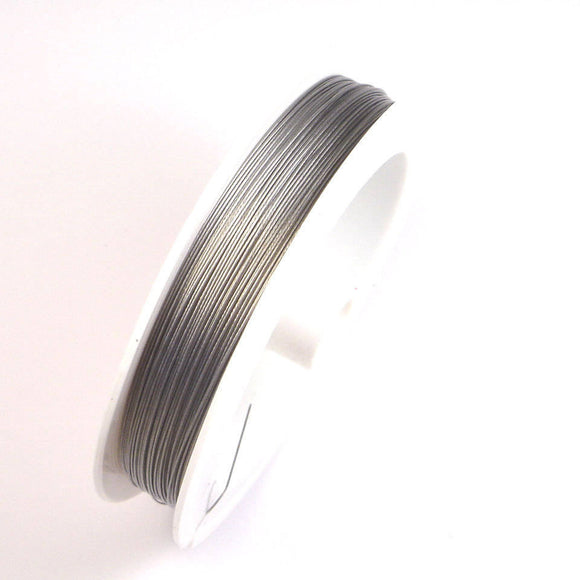 1pc Jewellery Findings Beading wire,Tiger Tail Wire Spool,nylon-coated stainless  steel, Silver,0.60mm,100m/roll-WC0001