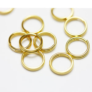 200pcs8mm  Jewellery findings Split ring, Close but Unsoldered round,gold-plated metal,  round,1.5mm thick - FDR0018