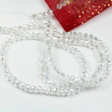"3.5*4.5mm Clear AB One full strand  Jewelry Beads Strands,Crystal Glass,Faceted rondelle,100 beads,Hole1mm, 18""-MCCR0251"