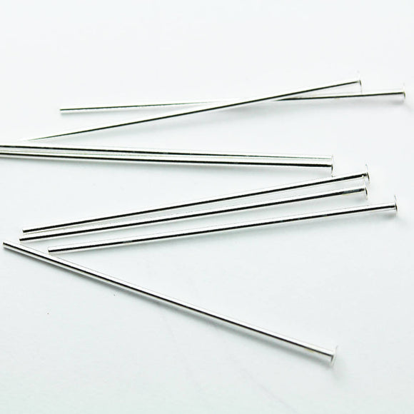 25pcs 30mm 24guage 925 Sterling Silver Jewellery findings Head Pin, Head about 2mm  - FDSSP0103