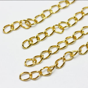 50pcs  Jewelry End Piece, Gold-plated , Size 3.5mm wide, 50mm long-FDBC0053
