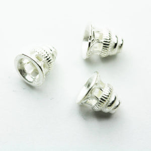4pcs 925 Sterling silver Jewelry Findings Bead cap,8mm Flower cap, 8mm height ,5mm inner size -FDSSC0221