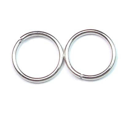 100pcs 12mm Jewellery findings Jump ring, Close but Unsoldered round,silver-plated metal,  round,1.2mm thick - FDR0002