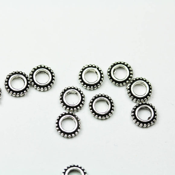 8pcs 8mm 925 Antique Sterling silver, Oxidized silver Jewellery Findings Daisy Spacers, 2mm thick, hole 3.5mm. - FDSSS0419