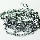 "1pc/5pcs 26""  Rhodium Plated brass Jewellery Necklace Chain, 2.5mm Cable chain, 10*5mm lobster claw clasp-WC0367"