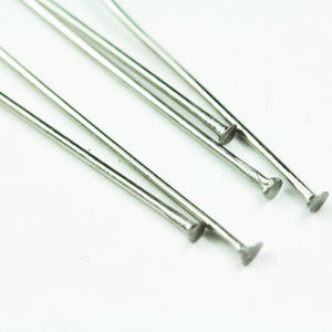 60pcs Stainless Steel 50mm , 21gauge Jewellery findings Head Pin,  End2mm  - FDP0022