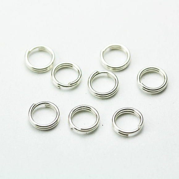 15pcs 7mm 925 Sterling silver Jewellery findings Split ring,Close but Unsoldered round,   - FDSSR0014