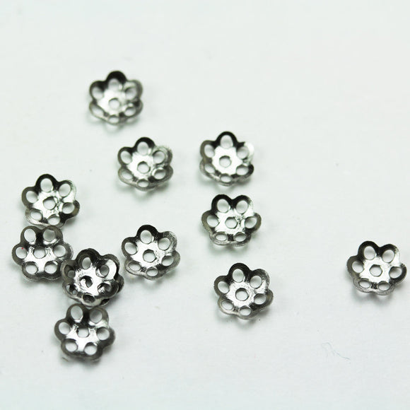 30pcs Stainless steel 6mm Bead cap Jewellery Findings ,6*1.5mm cap,0.6mm hole -FDBC0230