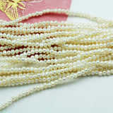 3mm White Freshwater Pearl Strands,15.5 inch, about 180 beads,0.5mm hole -PLF8176