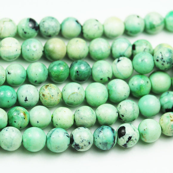 Green Turquoise, 7.5mm Round Gemstone Strand, One full strand Beads , about 57 beads , 0.8mm hole-GEM1911
