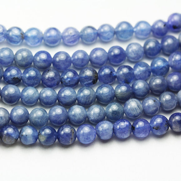 Natural Tanzanite, 6mm Round Gemstone Strand, 15.5inch , about 70 beads , 0.8mm hole-GEM2031