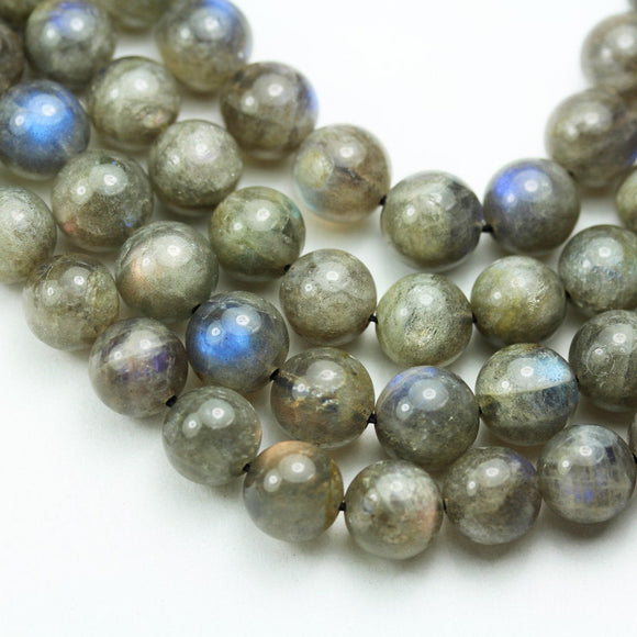 Labradorite, 10mm Round Gemstone Strand, 15.5 inch , about 40beads , 1mm hole-GEM2032