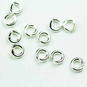20pcs 18gauge 5mm 925 Sterling silver  Jewellery findings Jump ring,Close but Unsoldered round - FDSSR0007