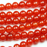 Carnelian, 8mm Round Gemstone Beads Strand, One full strand , hole1 mm, 16 inch, about 50beads -GEM1820