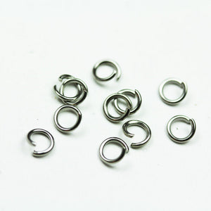 300pcs 5mm 20gauge Stainless Steel Jump ring ,Jewellery findings,Close but Unsoldered round, 0.8mm thick - FDR0105
