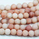 Matte Pink Aventurine, 8mm Round Gemstone Strand, 15.5inch , about 50 beads , 1mm hole-GEM2111