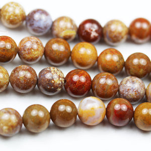 Ocean Jasper, 6mm Round Gemstone Strand, 15.5 inch , about 65 beads , 1mm hole-GEM2142
